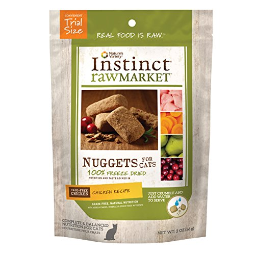 Instinct Freeze Dried Raw Market Nuggets Grain Free Recipe Natural Cat Food