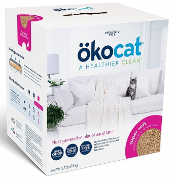 ökocat Natural Wood Clumping Cat Litter (Super Soft)