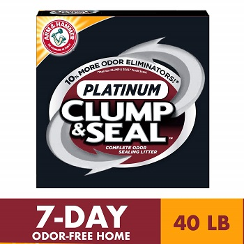 ARM & HAMMER Clump & Seal Platinum Cat Litter, for Mulitple Cats