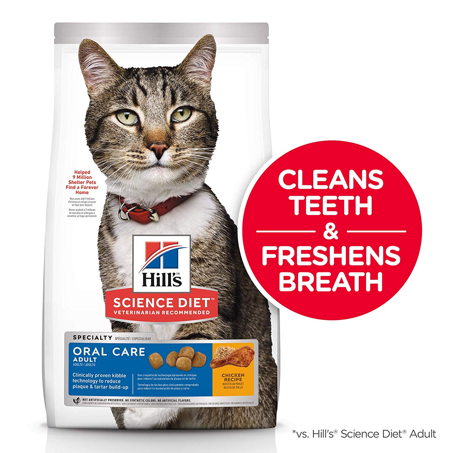 Hill's Science Diet Dry Cat Food, Adult, Oral Care