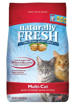 Naturally Fresh Walnut-Based Multi-Cat Quick-Clumping Cat Litter, Unscented
