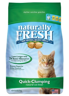 Naturally Fresh Walnut-Based Quick-Clumping Cat Litter, Unscented