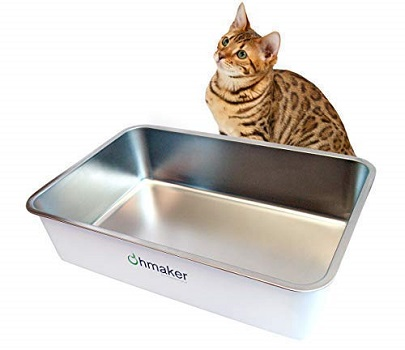 Ohmaker's OhmBox - Stainless Steel Cat Litter Box