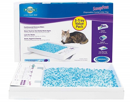 PetSafe ScoopFree Self-Cleaning Cat Litter Box Tray Refills - Non-Clumping Crystal Cat Litter