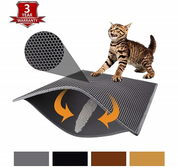 Pieviev Cat Litter Mat Litter Trapping Mat Double Layer