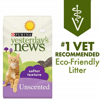 Purina Yesterday's News Unscented Soft Paper Cat Litter