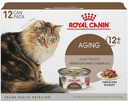 Royal Canin Aging 12+ Thin Slices in Gravy Wet Cat Food, 3 oz