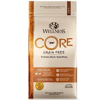 WELLNESS CORE Natural Grain Free Dry Cat Food, Original Turkey & Chicken