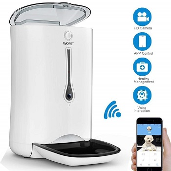 WOPET SmartFeeder Automatic Cat Feeder, Wi-Fi enabled with HD Camera