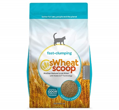 sWheat Scoop Natural Fast-Clumping Wheat Soft Cat Litter