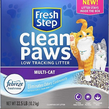Fresh Step Clean Paws cat litter that won't stick to paws