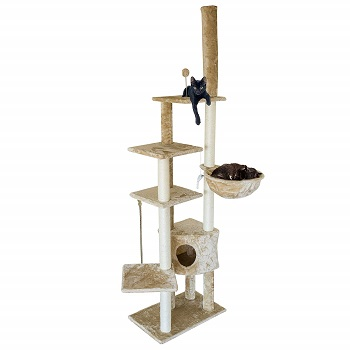 Furhaven Pet Cat Tree and Condo, Floor to ceiling cat tree