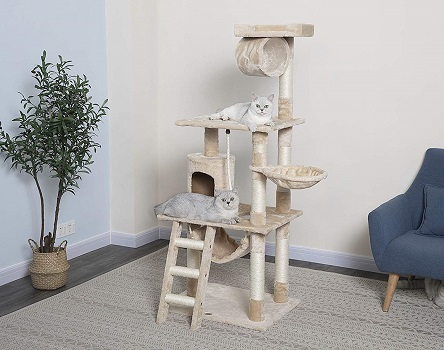 Go Pet Club 62-Inch Cat Tree Condo
