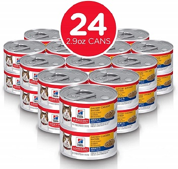 Hill's Science Diet Canned Wet Cat Food, Adult 7+ for Senior Cats, Savory Recipes