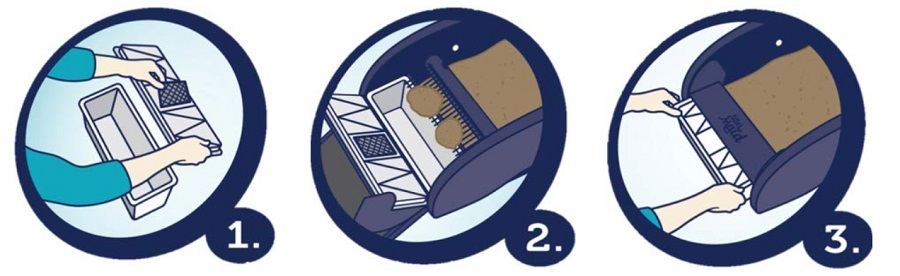 How does the LitterMaid Self-Cleaning Litter Box work