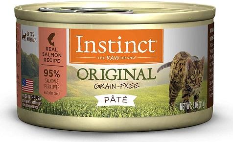 Instinct Original Grain Free Recipe Natural Wet Canned Cat Food for weight gain
