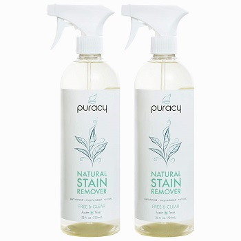 Puracy Natural Laundry Stain Remover, Enzyme Odor Eliminator, Free & Clear