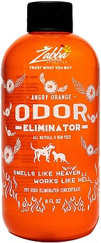 Angry Orange Pet Odor Eliminator enzymatic cleaner for cat urine