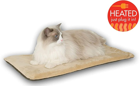 K&H Pet Products Thermo-Kitty Mat Heated Cat Bed
