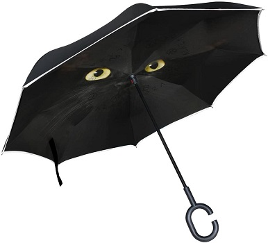 OREZI Double Layer Inverted Black Cat Umbrella