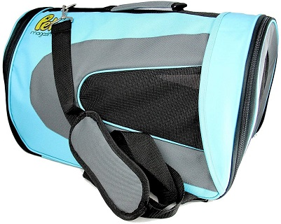 Pet Magasin Airline Approved Cat Carrier - Water Resistant, Collapsible, Soft-Sided Kennel for Cats