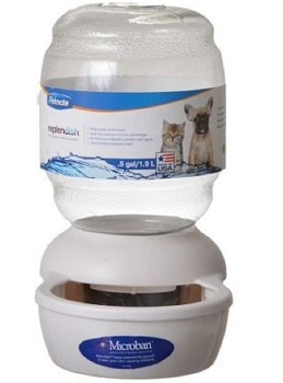 Petmate Replendish Gravity Cat Water Dispenser Microban