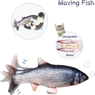 Potaroma Electric Moving Cat Kicker Fish Toy