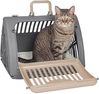 SportPet Designs Foldable Travel Cat Carrier Plastic