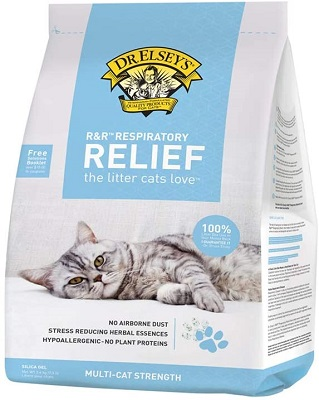 Dr. Elsey's Precious Cat Respiratory Relief Silica Cat Litter for Asthma