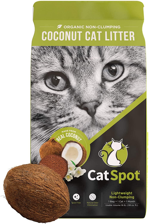 CatSpot Biodegradable, All-Natural, Lightweight & Dust-Free Coconut Cat Litter