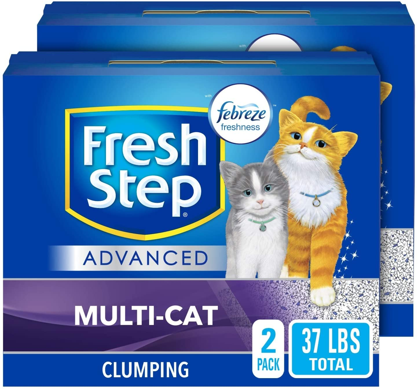 Fresh Step Multi-Cat Clumping Cat Litter With Febreze Freshness