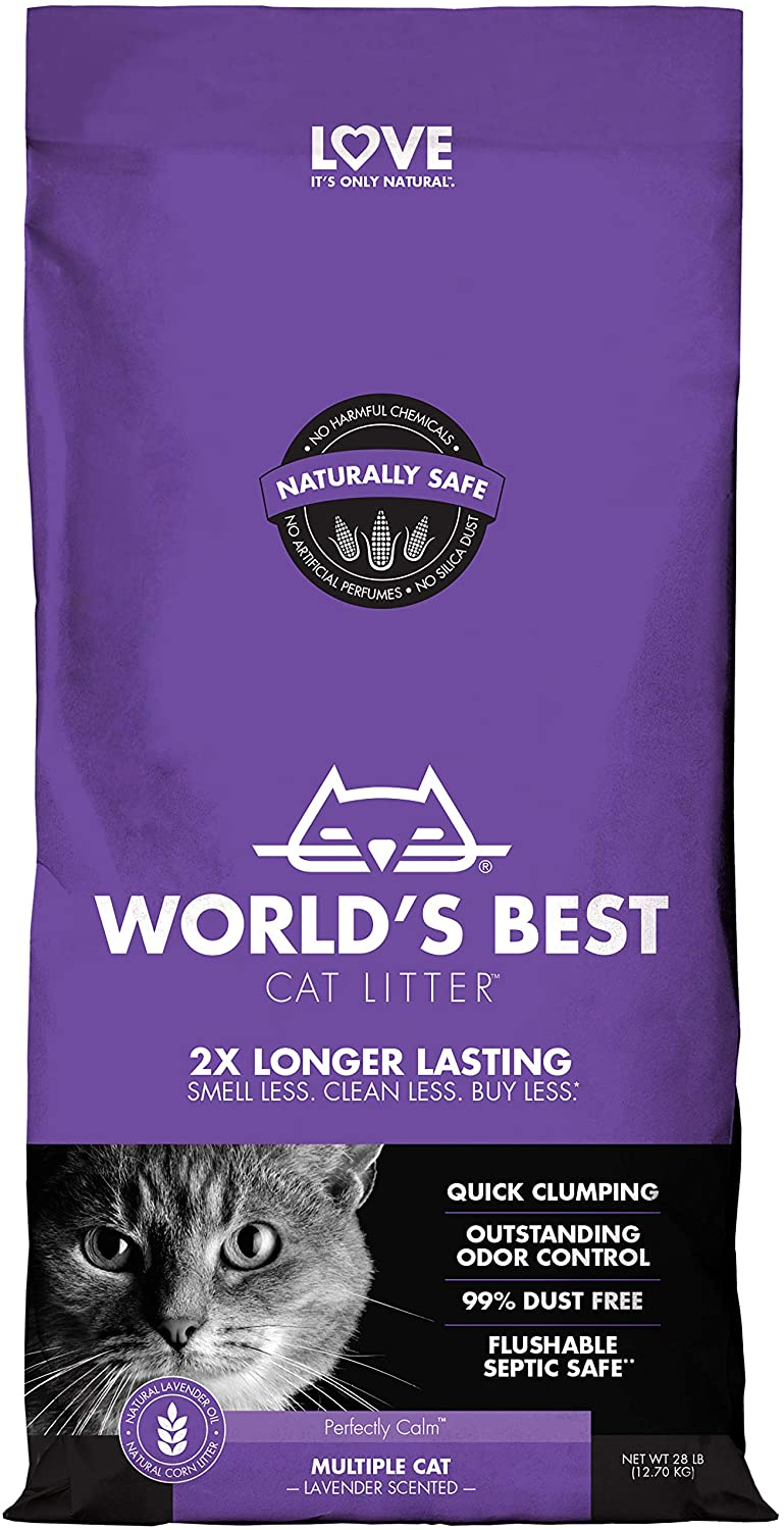 World's Best Scented Clumping Cat Litter Formula for Multiple Cats